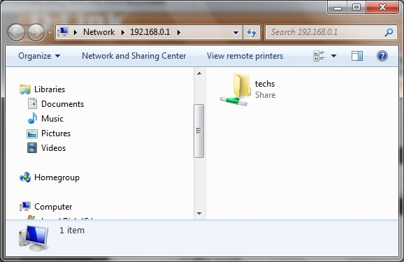 How to access storage on the D-Link DIR-685 from windows?