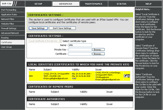 Private Certificates3