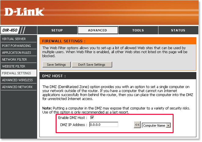 How to enable DMZ on a D-Link DIR series router
